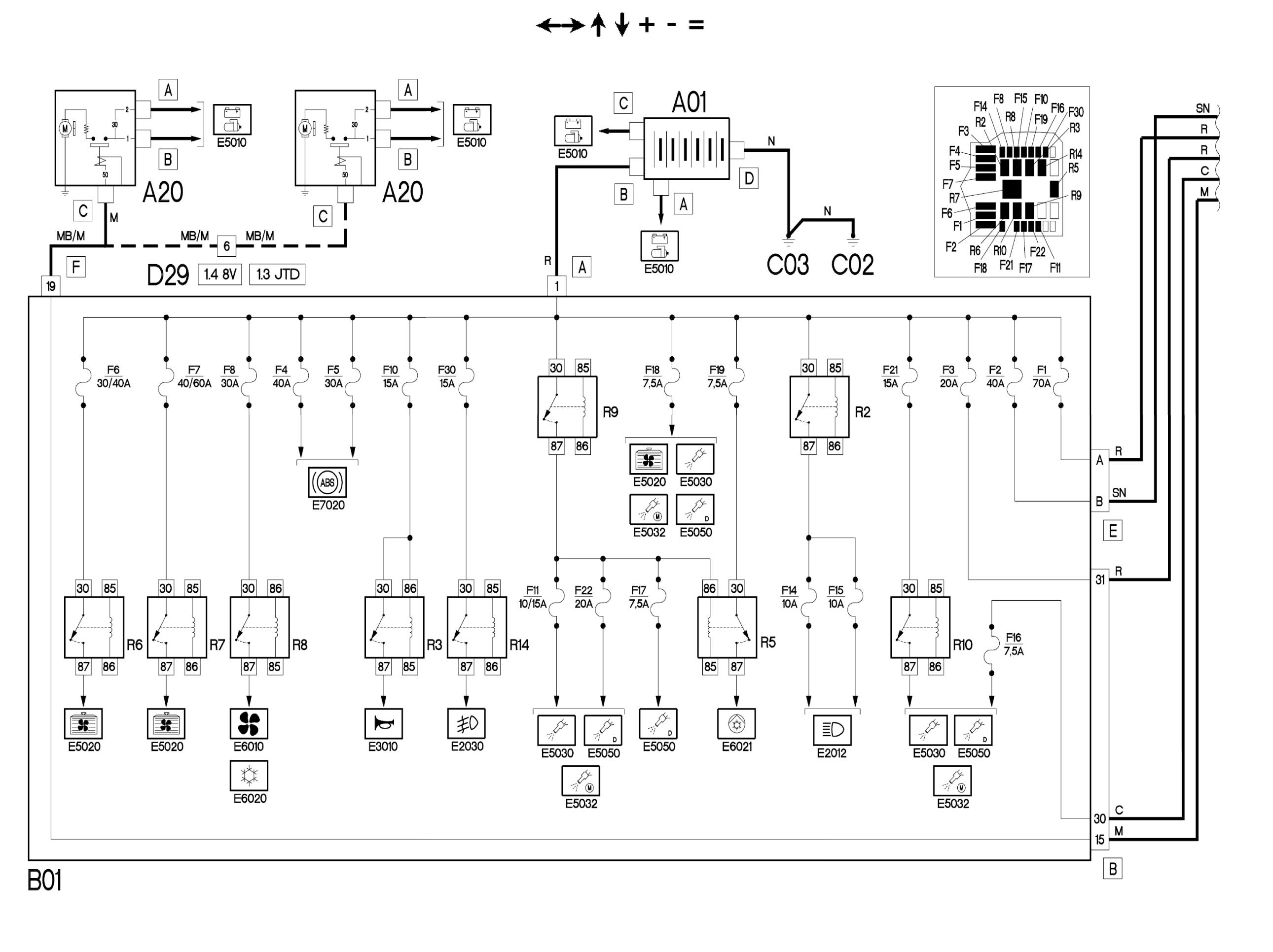 схема цепи питания фиат альбеа
