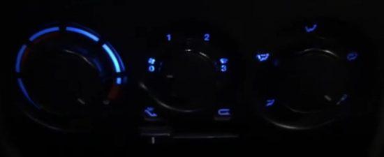 Доработки Fiat Albea: замена подсветки приборной и климатической панелей