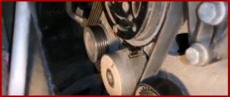 Замена роликов натяжного обводного Фиат Альбеа на аналог от Газели